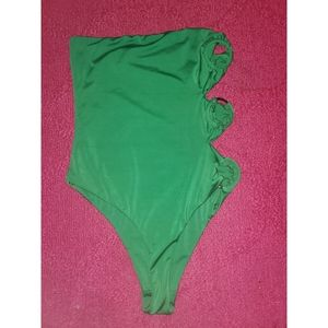 Green One Piece Swimuit